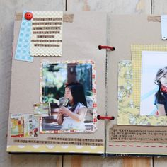 inexpensive way of scrapbooking. Free brochure and old magazine can be a perfect embellishment
