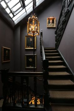 With walls in sophisticated sober shades, decorated with painted portraits of distinguished ancestors, hotel evokes an atmosphere from the glory days of Queen Victoria's Grand Britannia. Dream Home Design, My Dream Home, Home Interior Design, Interior Architecture, House Design, Gothic Interior, Dark Home Decor, Appartement Design, Dark House