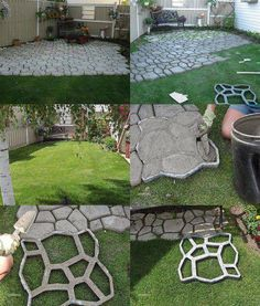 How to create your own pathway with a Concrete Stepping Stone Mold | Garden Paths