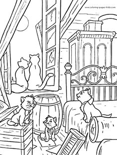 59 Best Aristocats Coloring Pages Images On Pinterest In 2019