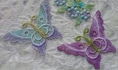 Venise Lace Butterfly Embellishment Hand Dyed by RavioleeDreams