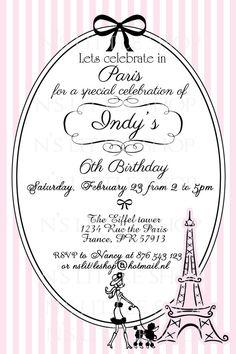 Paris party paper glitter etsy shop diy party ideas pinterest paris party invitation card customize printable stopboris Choice Image