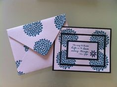 A card with triple stamping techique.