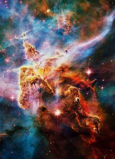 colorful, gas, pretty, space, stars