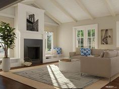 Wool Rug pros Curved Floor Lamp, Large Floor Lamp, Floor To Ceiling Curtains, Modern Lodge, Color Schemes Design, Online Interior Design Services, Large Area Rugs, Elegant Dining Room, Neutral Color Scheme