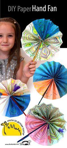 DIY Paper Hand Fan