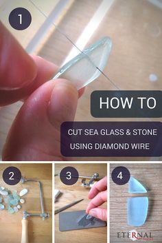 This helpful tutorial explains in easy to follow steps how to cut sea glass…