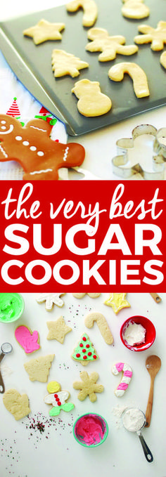 The Best Cut-Out Sugar Cookie Recipe   homemade sugar cookies, sugar cookie recipes, holiday cookie recipe, how to make holiday cookies, homemade Christmas cookies    The Butter Half #christmascookies #sugarcookies #christmastreats via @thebutterhalf