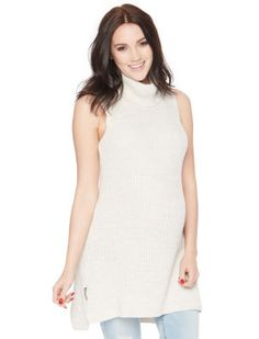 Sleeveless Side Ruched Maternity Sweater