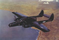 Northrop P-61. An American World War II aircraft specifically designed to be a night fighter and, in particular, to carry radar. Called the Black Widow, jdm