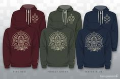 Fangamer - Temple Hoodie  May the Triforce be with you in these subtle, artistic designs $60 with shipping