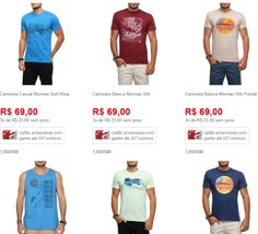 3 Camisetas Masculinas - Mormaii/Opera Rock/Fatal/Sommer << R$ 7990 >>