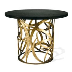 """Special Order Design: 39"""" Dia Art Metal Side Table Matching Tables & Consoles Available * Custom Quotation Email: customorders@instyle-decor.com"""