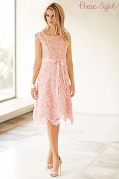 Buy Phase Eight Rose Pink Lace Dress from the Next UK online shop