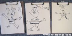 "Free Guided Drawing Instructions for David Shannon's ""No, David! character.  Fun and easy!  #kindergarten"