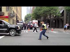 Dancing Police in Charlotte under the 2012 DNC