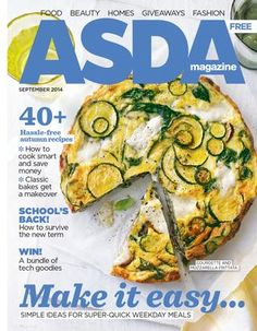 Asda Magazine October, the comfort food issue! Cook Smarts, Free Magazines, Cool Magazine, September 2014, Asda, Fall Recipes, Vegetable Pizza, Make It Simple, Goodies