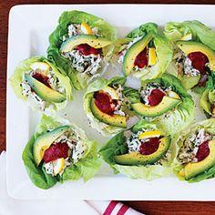 Crab & Avocado Salad Cups. We love this simple presentation.