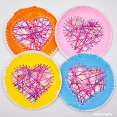 45 Paper Plate Valentine Crafts For Kids - Valentine's Day Craft Ideas The cutest paper plate hearts to make with kids for Valentine's Day. A craft that can also be used as Valentine decoration. Preschool Valentine Crafts, Valentines Day Decorations, Valentines For Kids, Valentine's Day Crafts For Kids, Kids Diy, Heart Crafts, Valentine's Day Diy, Card Holders, Educational Crafts