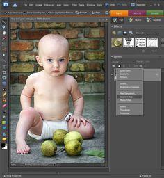 Photo editing using layer masks
