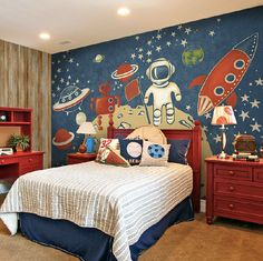 This Space Exploration Pattern wallpaper is Specially Designed and Custom Made to fit almost Any Size of Your Walls! As a great revolution of
