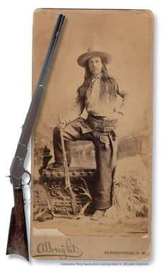 The 1873 Winchester was popular with cowboys and outlaws, because it chambered the same ammunition as the Colt revolvers many of them also carried, yet even lawmen in Arizona found good use for the rifle. In fact, Commodore Perry Owens made a name for himself with one of his Winchester repeaters (possibly a '73) at an 1887 gunfight during the Pleasant Valley War.