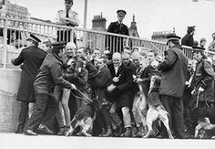Doc Martens: Police Pictured Surrounding Skinheads At Southend-on-sea In 1982.