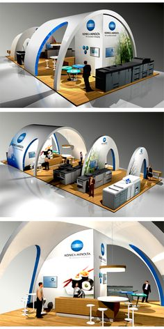 concept for a booth designed by sine concept