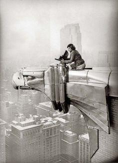 Margaret Bourke-White - 1931  On Top of the Chrysler Building, New York
