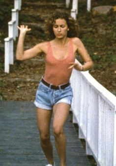 """As Baby in 1987's """"Dirty Dancing,"""" Jennifer Grey transformed from an awkward teen to Patrick Swayze's dance partner in a variety of denim styles, from skin-tight jeans to classic short shorts in the summer of 1963."""