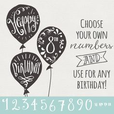 CLIP ART: Birthday & Greeting Overlays // Hand by thePENandBRUSH