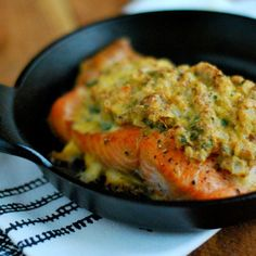 This recipe is reminiscent of the ready-made stuffed salmon from Costco that Jenny used to buy before she went Paleo, only she makes it with nothing but quality ingredients.