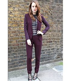 @Who What Wear - Step 4:                 Shrunken, school-uniform suiting looks grown up when worn with lace-up heels as seen here on Rosie Fortescue from At Fashion Forte.