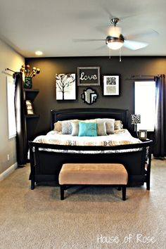 One dark wall - love this look!!! | www.oldtimepottery.com