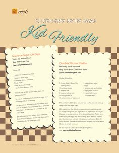 Gluten Free Recipe Swap - Kid Friendly!