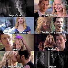 They really are the same. I think it was a good parallel making Klaus and Caroline similar. I like how Klaus is sweet on Caroline <3 but I did like her and Stefan