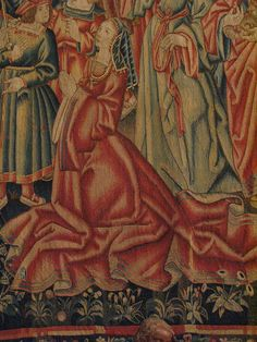 Daniel and Nebuchadnezzar tapestry, Tournai, start of the 16th century, Musee du Moyen Age, Paris (Detail).