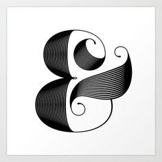 Ampersand Art Print by Jude Landry - $20.00 #ampersand #print #typography