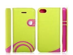 Amazing Rainbow stype Flip Leather Protective case cover shell for APPLE IPHONE5C