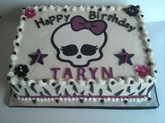 Monster High Cake Custom Cakes By Kris Monster High Birthday Cake, Monster High Cakes, Monster High Party, Birthday Cake Decorating, Cake Pictures, Party Themes, Theme Ideas, Party Ideas, Custom Cakes