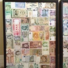A Creative Way To Display Paper Currency From Your International Trips Like Stamps