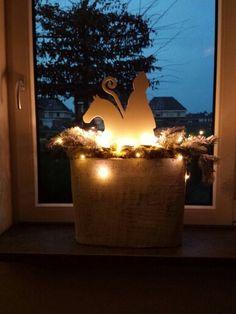 Sinterklaas DIY in vensterbank. Leuke overgang naar Kerst:)