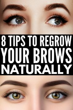 How to Grow Eyebrows Fast: 8 Brow Hacks That Actually Work - Care - Skin care , beauty ideas and skin care tips Short Eyebrows, Bleached Eyebrows, Types Of Eyebrows, Blonde Eyebrows, Black Eyebrows, How To Color Eyebrows, Perfect Eyebrows, Natural Eyebrows, Korean Eyebrows