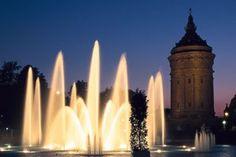 Mannheim: water garden in the Water Tower Park (Parkanlage am Wasserturm) ©DZT, Krüger, Torsten