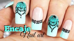 Decoración de uñas FACIL encaje sobre degradado - Easy lace ombre nail art