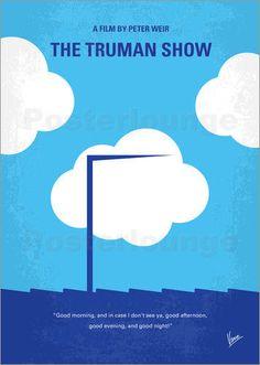 Kunstwerk: My Truman show minimal movie poster' van van Chungkong Art Iconic Movie Posters, Minimal Movie Posters, Minimal Poster, Cinema Posters, Movie Poster Art, Iconic Movies, Poster Poster, Film Posters, Simple Poster