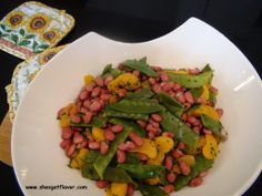 Mandarin Orange, Red Beans and Snow Peas - HEALTHY & DELISH!