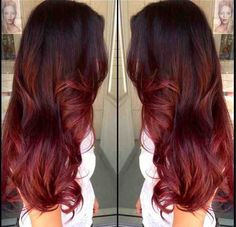 Pretty Red Ombré