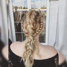 #hairstyle #braid #prom #wedding #formal #blonde