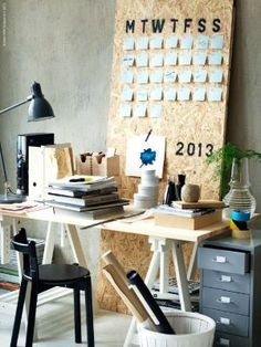 Workspace Design Ideas for Home Office - Workspace Design, Office Workspace, Office Decor, Office Ideas, Ikea Office, Home Office Space, Home Office Furniture, Diy Furniture, Furniture Design